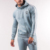 Mens Tracksuit Online Wholesale Skinny Blank Fitness Tracksuit With Stripes Detail