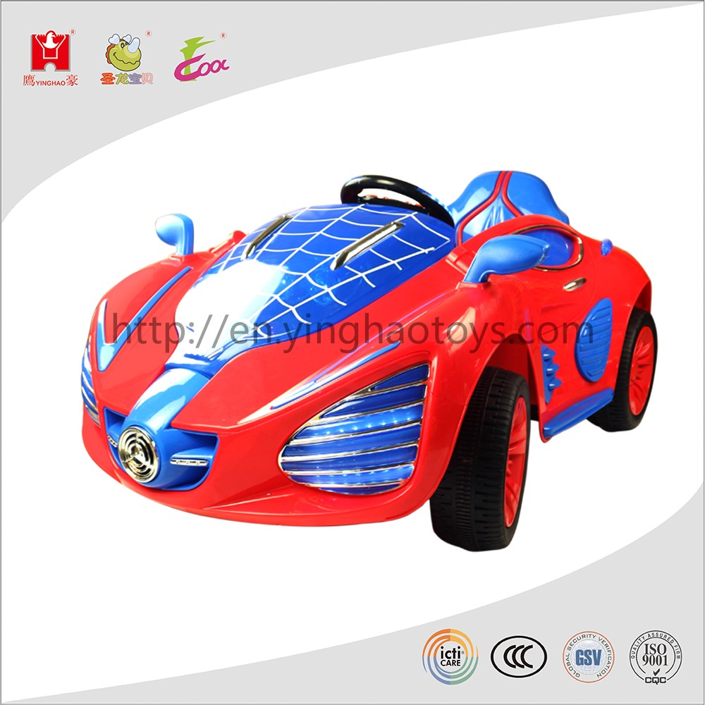 2016 Newest Spiderman Electric Battery Toy Car Remote Control Ride On Car For Kids