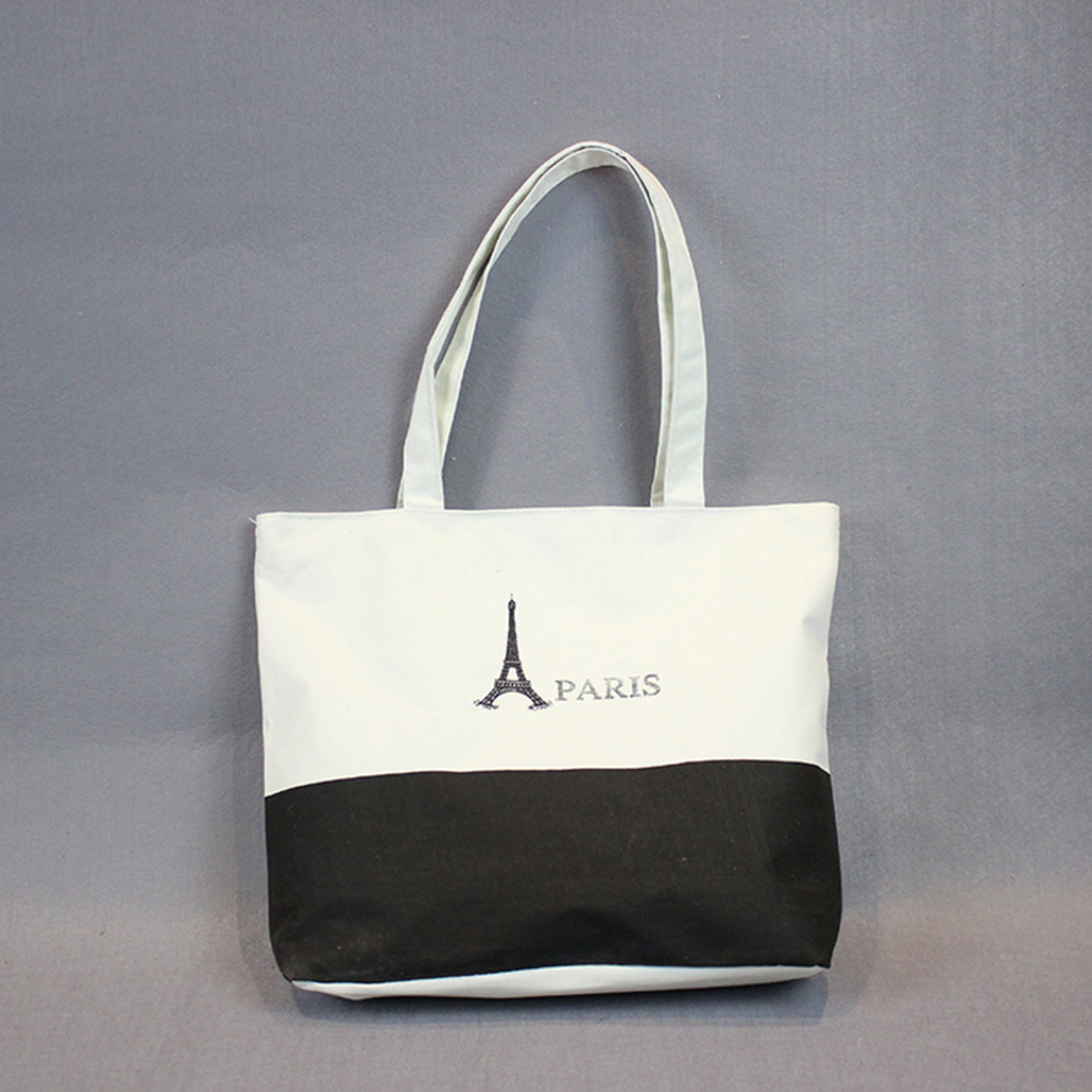 Customized Size and Logo Handle Thick Tote Bag Canvas