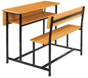 Cheap Double School Desk and Bench Double Combined School Desk