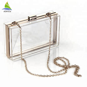 Wholesale Trendy Clear Custom Acrylic Clutch Bag