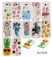 Multi Design Clear Cutie Jelly Case Cover Phone Case For Samsung Galaxy J3(2016) J310 J320 J3109