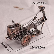 Винтажный дизайн металлический трактор миниатюрная фигурка креативный сплав Трактор модель настольный декор шкаф ремесленные игрушки для...(Китай)