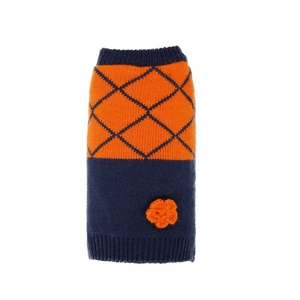 Eco-friendly custom cheap polyester hand knit dog sweater