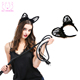 Fashion Cat Accessory Wholesale Animal Head Hoop All Saints' Day Feather Hair Band