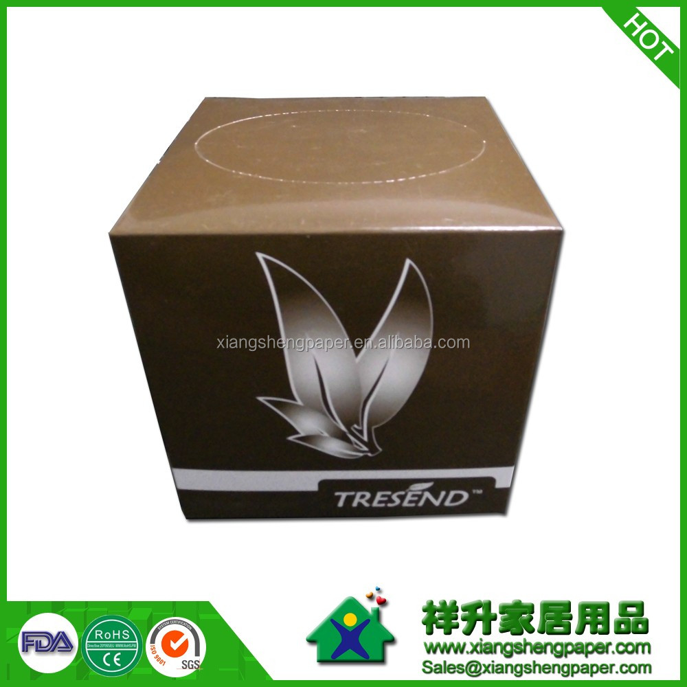 small square High quality soft box facial tissue advertising