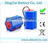 quality li-ion battery 12v 6000mah battery pack for for portable VCD / DVD, IC card terminals, electronic door locks