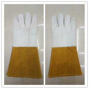 Chinese cowhide leather argon arc welding gloves work custom logo gloves