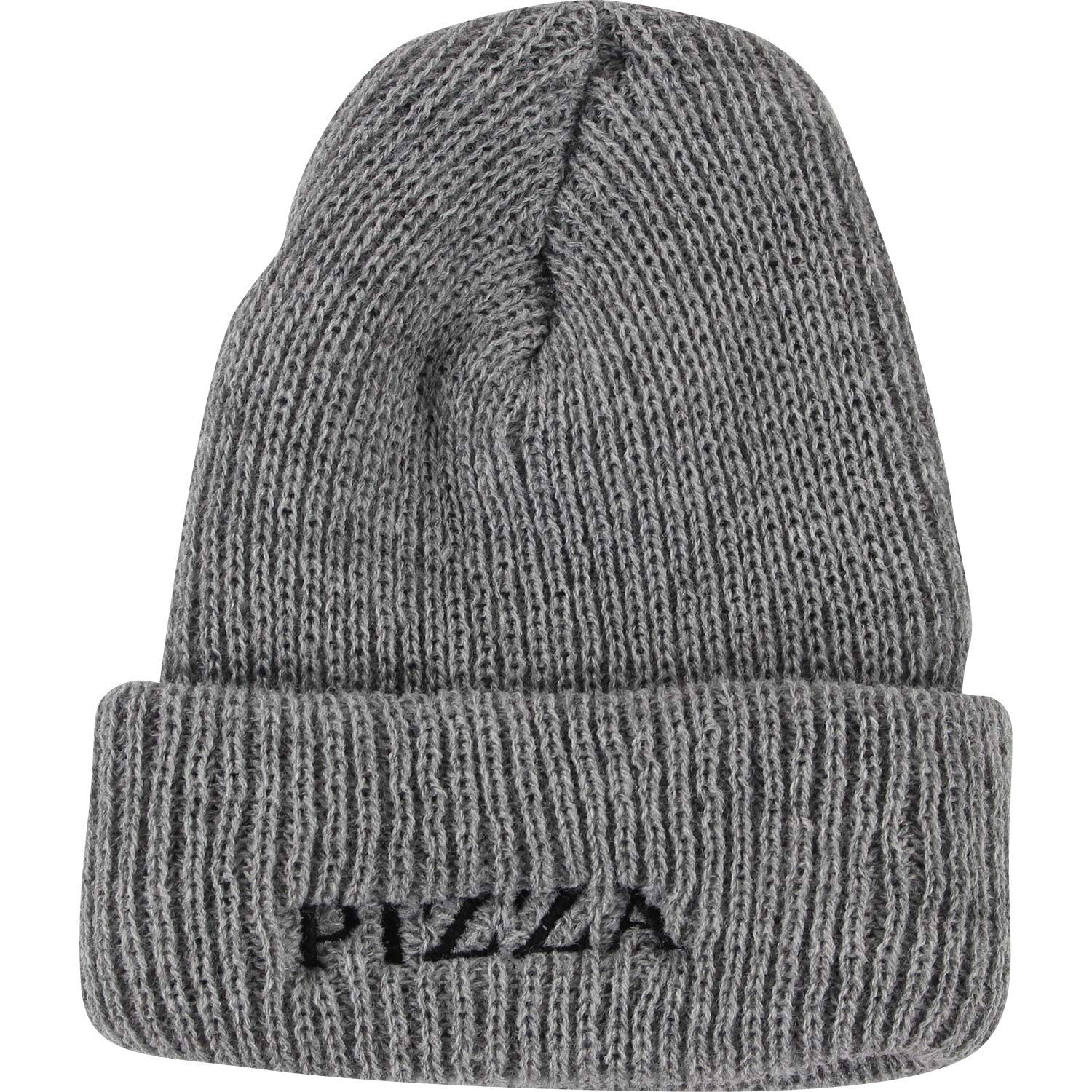d02214217df8d Get Quotations · Pizza Skateboards Couture Grey Beanie Hat