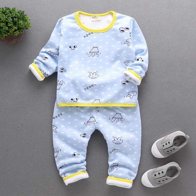zm53453a Baby kids sleep wear long sleeve cotton shirts and pants pajamas sets