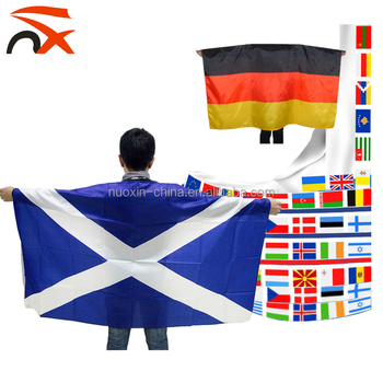 Wholesale Custom Design Football Fans Country Body Flag
