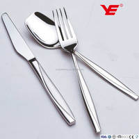 135pcs Hot sale 18/2 stainless steel flatware / Inox cutlery set in wooden case