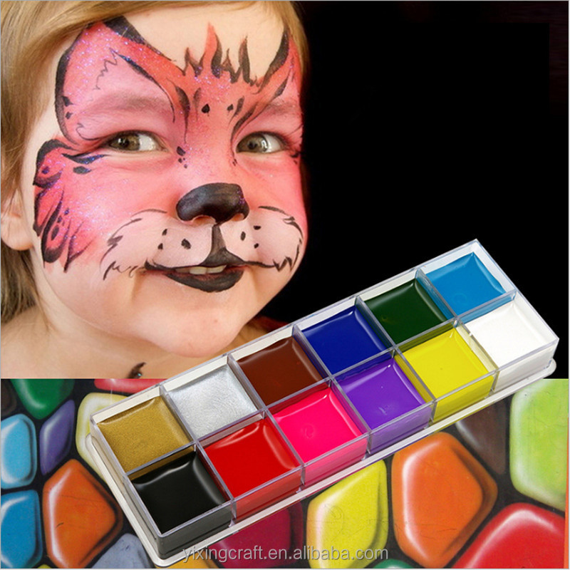 Christmas Halloween Makeup.Halloween Makeup Christmas Party Face Painting Kit Colorful Non Toxic Face Paint Buy Face Painting Kit Face Painting Face Paint Product On