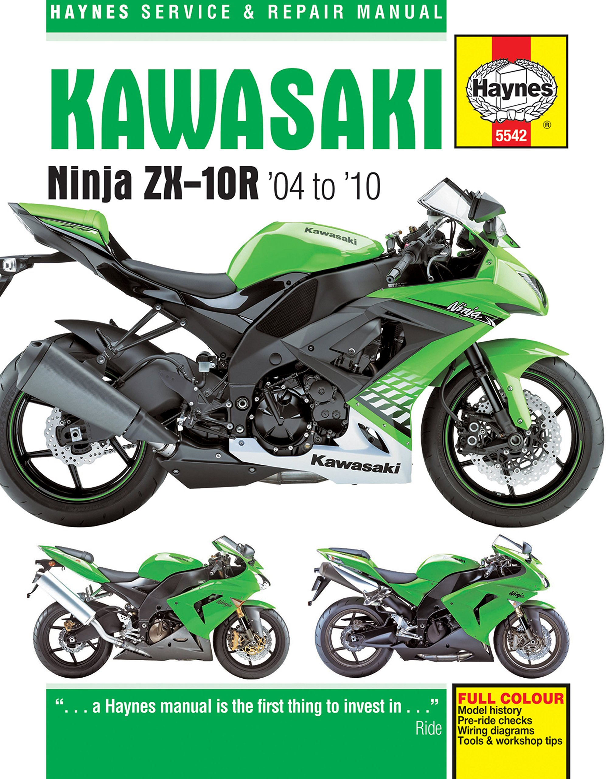 Get Quotations · 2004-2010 Kawasaki Ninja ZX10R HAYNES REPAIR MANUAL