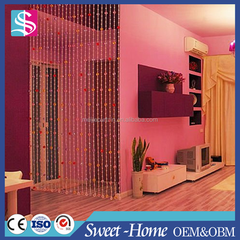 Decorative Crystal Bead Curtain / Hanging Door Beads Curtain