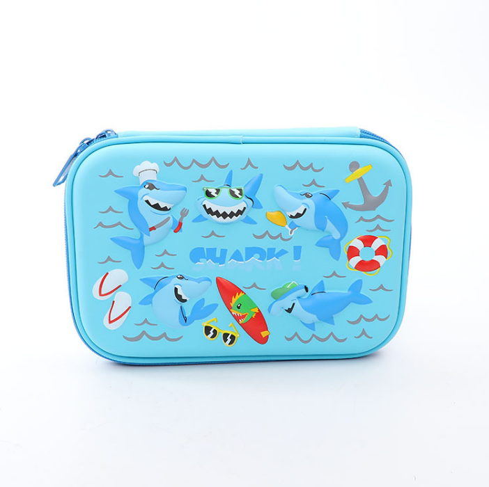 EVA 3D stationery bag multi-layer space children pen box
