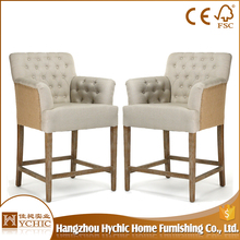 Dining room furniture tufted linen dinning chairs with buttons