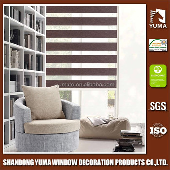 YUMA 2017 new silver Zebra blinds / Rainbow fabrics / Roller window blinds fabrics