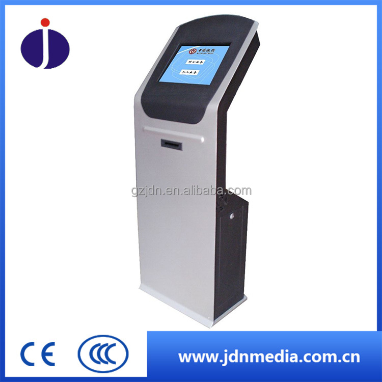 19'' ticket printer kiosk, inquiry machine for bank , embassy