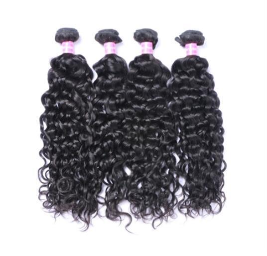 Natural Black Color Natural Wave Peruvian Remy Hair 3 Bundles Human Virgin Hair Weave