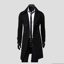 2013 Men Slim Designed Jacket Hot Stylish Woolen Jacket Double Breasted Trench Coat black,grey,camel long overcoat free ship