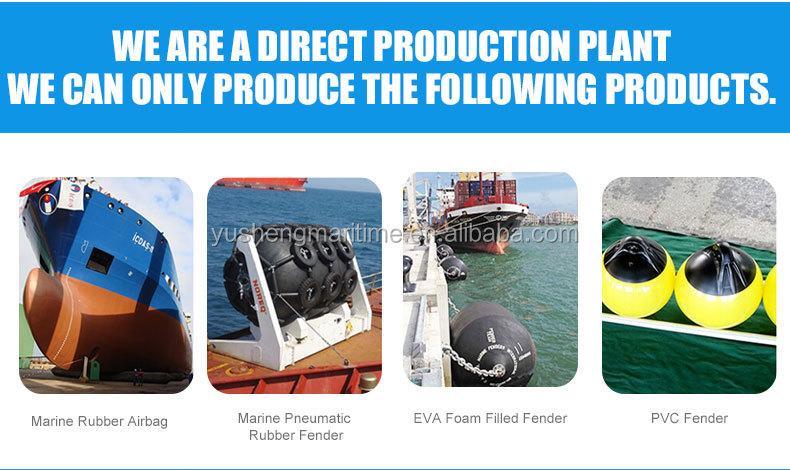 Defensas de borracha pneumático, almofadas de borracha, bóias de amarração utilizado para o barco, navio