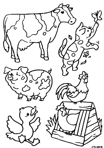 Variety of farm animals DIY Coloring Stained Stickers CraftsFor Kids Crafts Window Clings Family Activities Fun Crafts For Kids Art Projects Removable Windows Stained Glass Decals