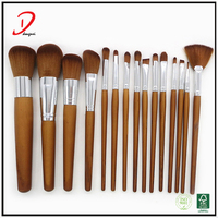 2017 Best price 15pcs personalized private high quality makeup brush set, professional makeup brush set