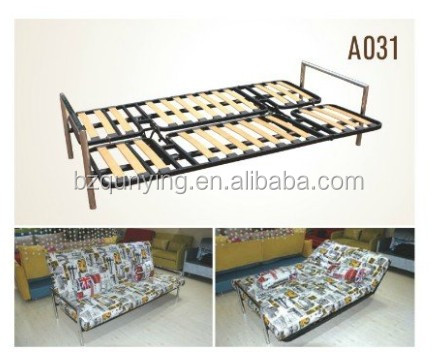 Queen Size Two Folding Wooden Slat Bed Frame With Armrest - Buy ...