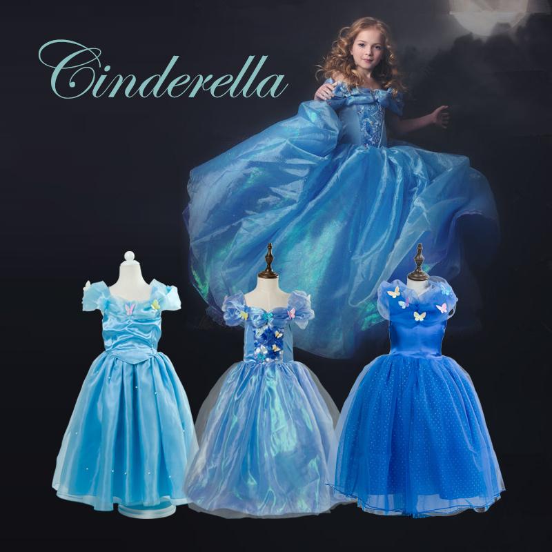 Original Princess Snow White Cinderella Dresses Costumes: Summer Children Dresses For Girls Cinderella Costumes