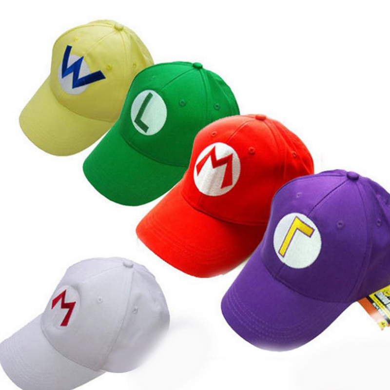 Get Quotations · Hot Sale New Arrival Nintendo Super Mario Cap Anime  Cartoon Cosplay Hats Halloween Costume Hats b247c20364f