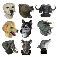 Brand new Masquerade Full Head Animal Cosplay Carnival Costume Latex dog Party Masks