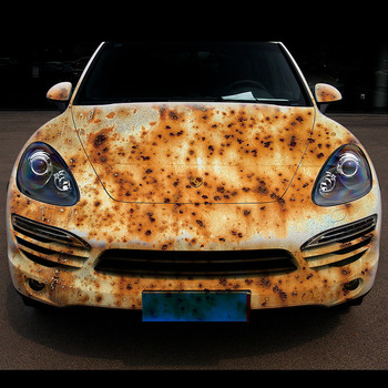 Custom design printing removable car sticker rust styles sticker of car body with top quality