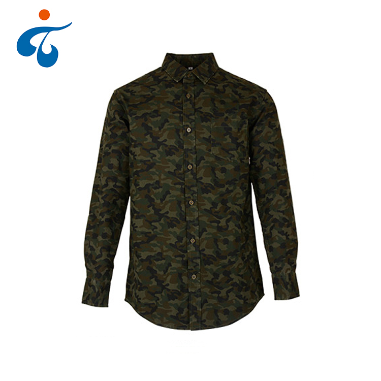 Made in China hot koop modieuze casual mannen camouflage shirt militaire