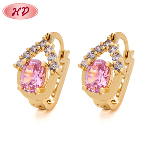 66a42a8eac0a6 Popular Jewellery Designs Rose Gold Tanishq Pink Diamond Earrings