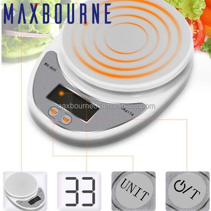 Best Selling Houseware BPA Free Digital Kitchen Scale Portable Electric Kitchen Scale