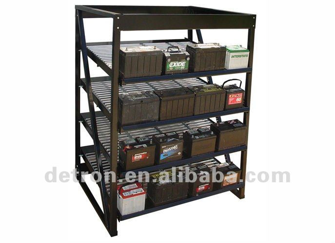 Metal Display For Car Battery S2444 New Floor Standing Accessories Racks Batteries Product On Alibaba