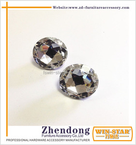 Glass Crystal Buttons Furniture Rhinestone Buttons ZD-L023