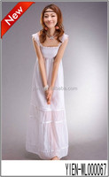 New Trend Design White Dress Elegant Lady Turkish Evening Dresses