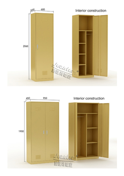 2 Door Cupboard Inside Designs yellow 1/2 door steel wardrobe design - buy steel wardrobe design