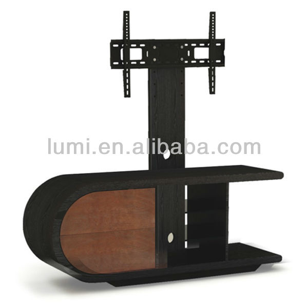 Curved Wood Led Tv Stand