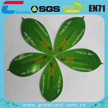 Diecut leaf shaped pvc card buy leaf shaped business cardsshaped diecut leaf shaped pvc card colourmoves