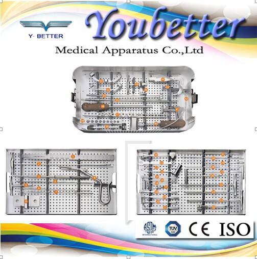 Cannulated Tibia Interlocking Intremedullary Nail Instrument Set.orthopedic implants and instrument. Made in China