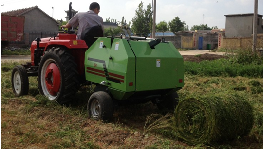 Top Quality Mini Round Grass Wheat Straw Hay Baler IS-850 With CE Certificate Buyer 100% Praise India Twine Baler
