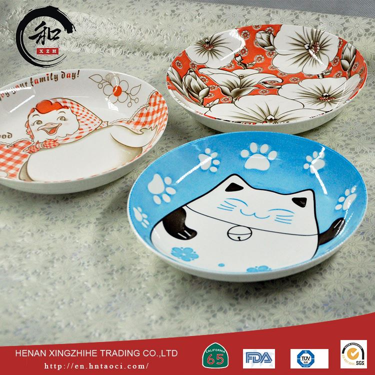 Custom Design Divided White Porcelain Dishes Ceramic Pie Plate Wholesale