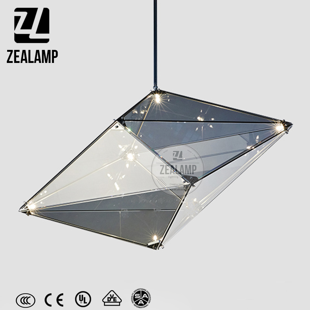 ZLC214P Nordic Fashion Designer Postmodern Pendant Lamp Bamboo Hanging Light Hotel Bar Chandelier