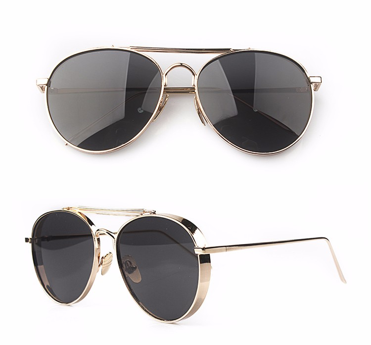 689dbab134 Metal wide frame slim temple cool color lenses fashion drive unisex outdoor  fit over sunglasses