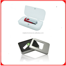 2gb metal usb flash drive with leather case , custom metalic usb flash disk