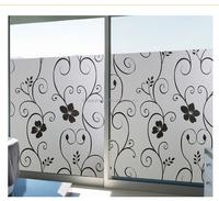 Black flower design window decal print vinyl film