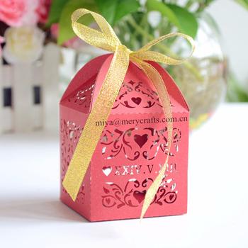 Beautify Wedding Decoration with DIY Souvenirs Wedding Sweet Purplish red Candy Diy Wedding souvenirs box DIY souvenirs